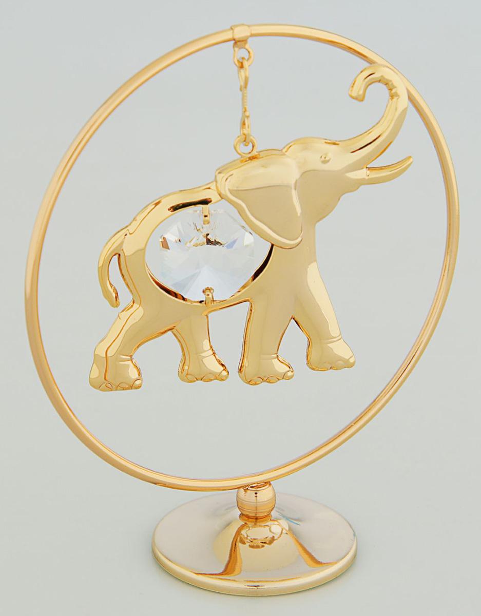 Миниатюра Слон в кольце, с кристаллами Сваровски, 7,8 х 5 х 10,5 см2071729Перед вами — сувенир в полном смысле этого слова. И главная его задача — хранить воспоминание о месте, где вы побывали, или о том человеке, который подарил данный предмет. Преподнесите эту вещь своему другу, и она станет достойным украшением его дома.