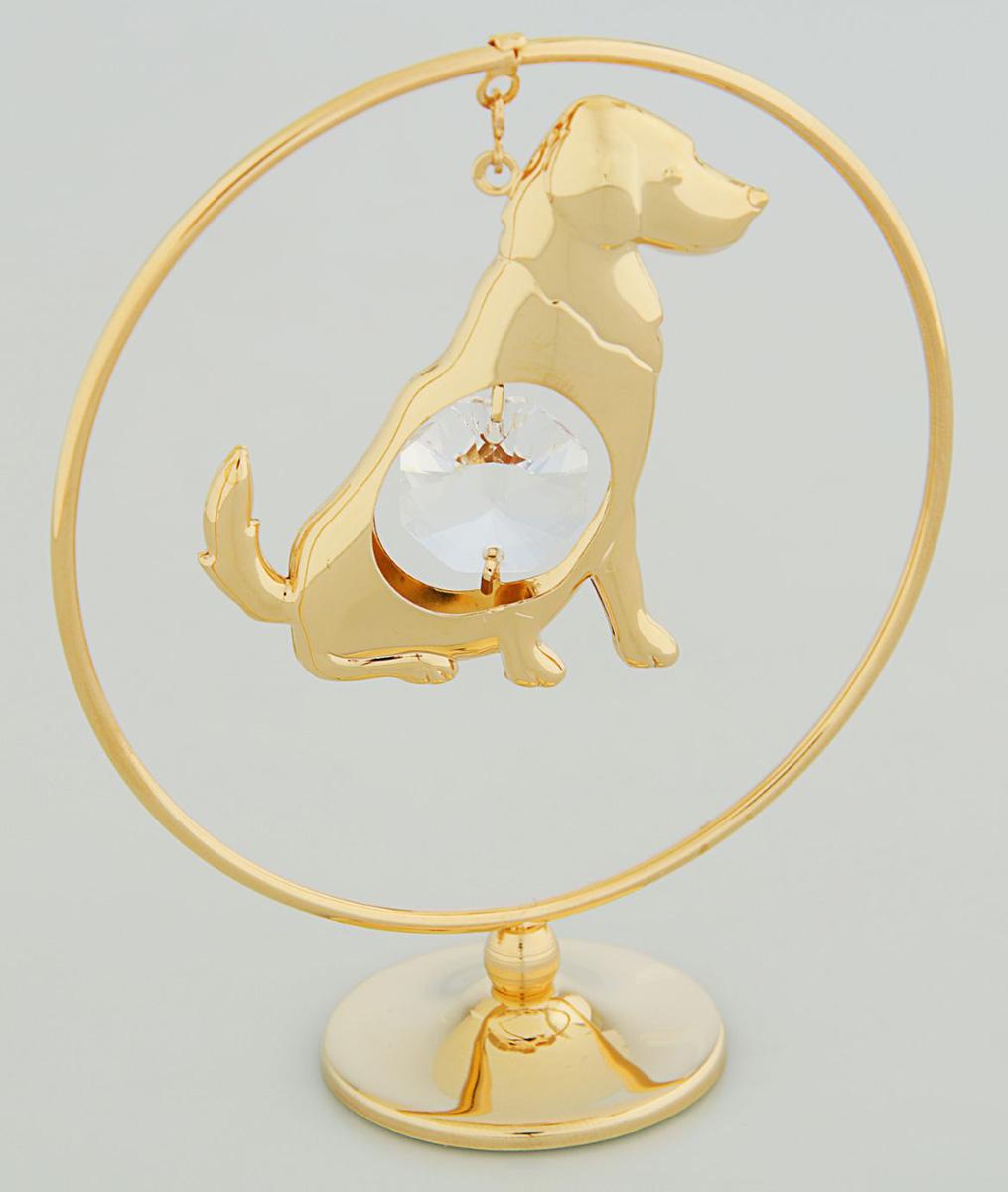 Миниатюра Собака в кольце, с кристаллами Сваровски, 8 х 5 х 10,2 см2071730Перед вами — сувенир в полном смысле этого слова. И главная его задача — хранить воспоминание о месте, где вы побывали, или о том человеке, который подарил данный предмет. Преподнесите эту вещь своему другу, и она станет достойным украшением его дома.