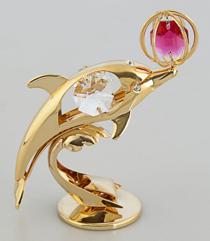 Миниатюра Дельфин, с кристаллами Сваровски, 6,5 х 4,5 х 9 см2190669Перед вами — сувенир в полном смысле этого слова. И главная его задача — хранить воспоминание о месте, где вы побывали, или о том человеке, который подарил данный предмет. Преподнесите эту вещь своему другу, и она станет достойным украшением его дома.
