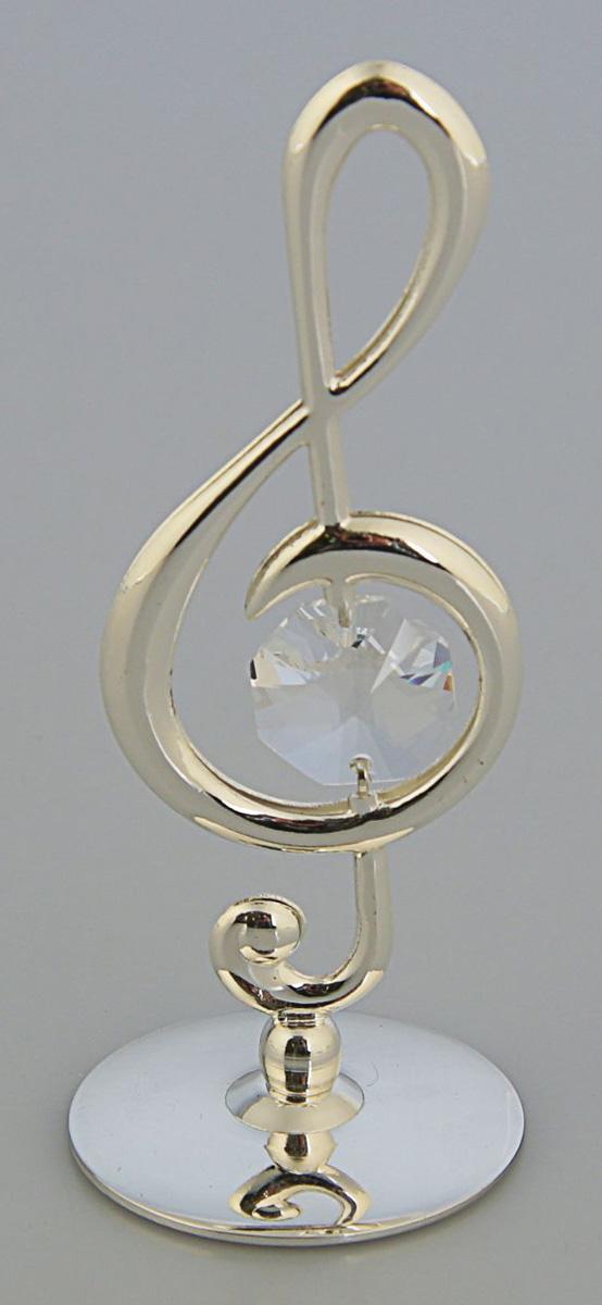 Миниатюра Скрипичный ключ, с кристаллом Сваровски, 3,2 х 3,2 х 8 см2260198Перед вами — сувенир в полном смысле этого слова. И главная его задача — хранить воспоминание о месте, где вы побывали, или о том человеке, который подарил данный предмет. Преподнесите эту вещь своему другу, и она станет достойным украшением его дома.