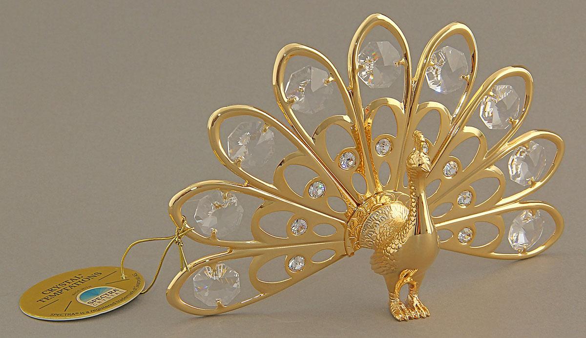 Миниатюра Swarovski Elements Жар-птица, с кристаллами Сваровски, 8 х 14 х 9 см692671Сувенирная Жар-птица станет идеальным подарком близкому человеку и всемлюбителям эксклюзивных вещей ручной работы. Считается, что это талисман, дарованный солнцем, который способенмаксимально продлить земную человеческую жизнь. Сувенир украшен стразами Swarovski, которые были признаны специалистамилучшей имитацией бриллиантов. Свет, попадая на кристаллы Swarovski,разбивается на миллион радужных лучей. Это зрелище, бесспорно, оставляетяркое впечатление!