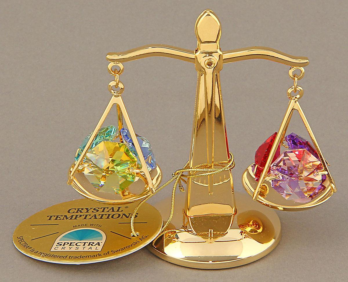 Миниатюра Swarovski Elements Весы, с кристаллами Сваровски, 4 х 8 х 7 см692721Сувенирные весы станут идеальным подарком близкому человеку и всем любителям эксклюзивных вещей ручной работы. Весы — не только знак Зодиака, но и всеобщий символ справедливости и правильного поведения.Сувенир украшен стразами Swarovski, которые были признаны специалистами лучшей имитацией бриллиантов. Свет, попадая на кристаллы Swarovski, разбивается на миллион радужных лучей. Это зрелище, бесспорно, оставляет яркое впечатление!