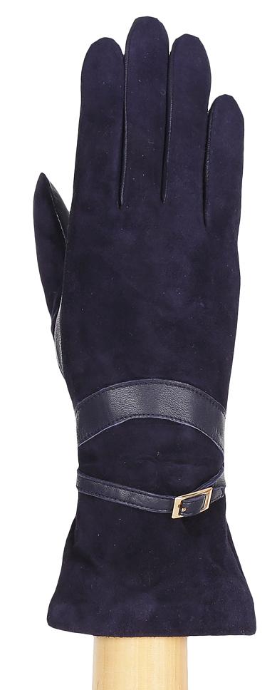 Перчатки женские Fabretti, цвет: синий. 12.67-12. Размер 7,5