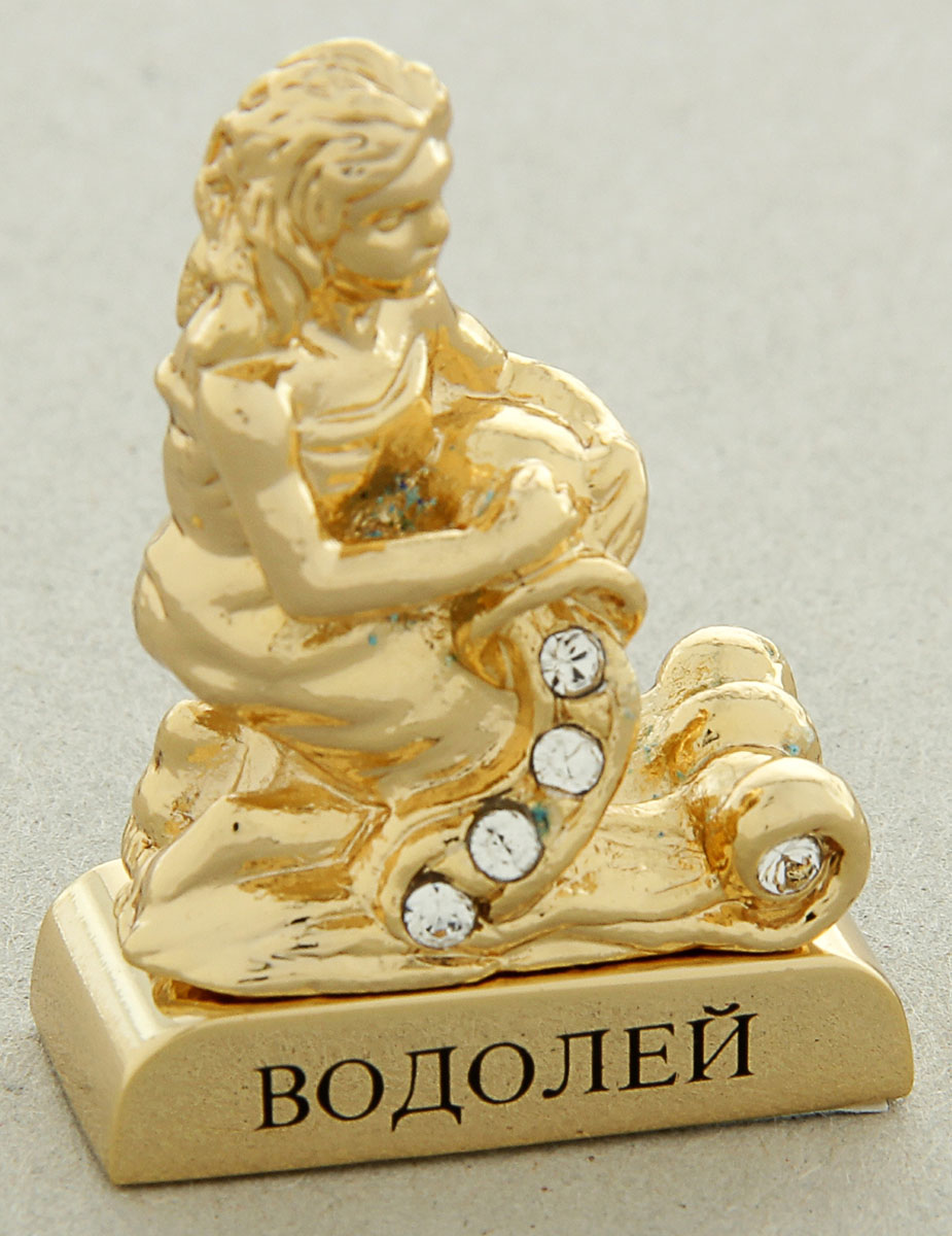 Миниатюра Swarovski Elements Знак зодиака. Водолей, с кристаллами Сваровски, 5 х 2 х 5 см театр сатиры билет 06 февраля