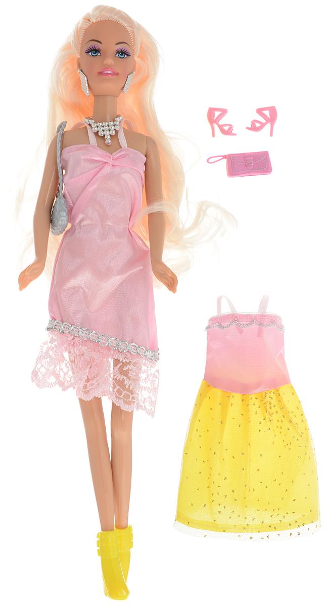 ToysLab Кукла Ася Модные цвета Блондинка в розовом платье
