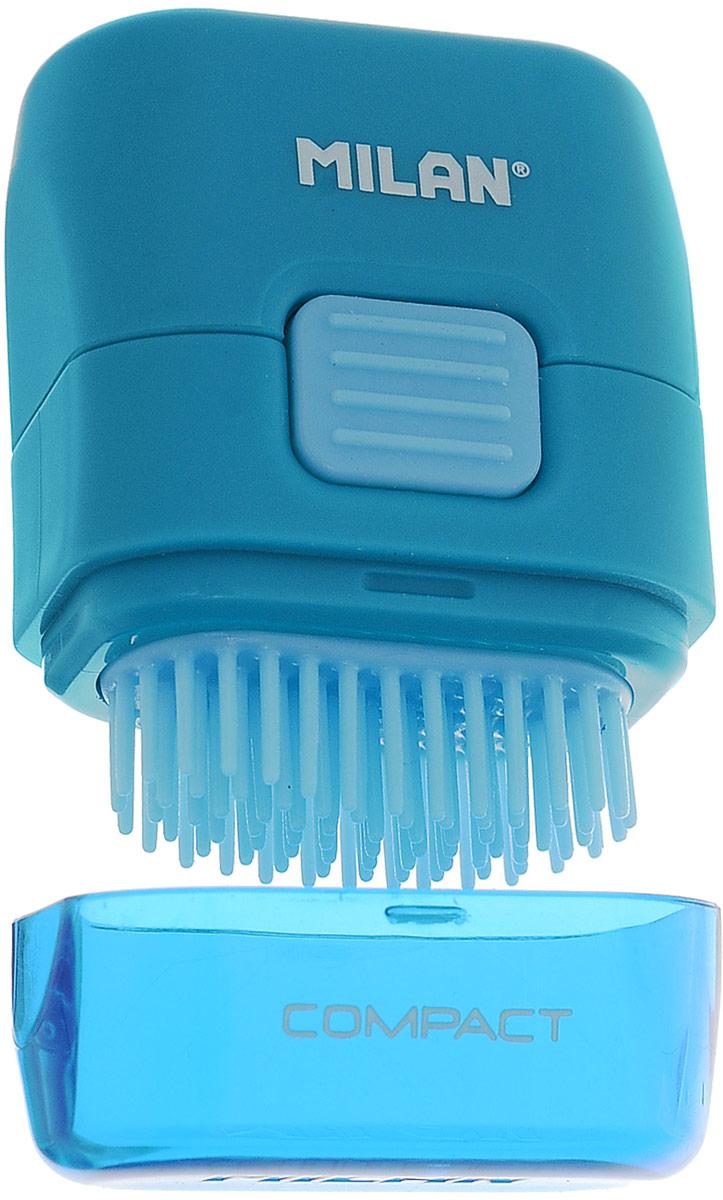 Milan Ластик с щеточкой Compact прямоугольный цвет синий