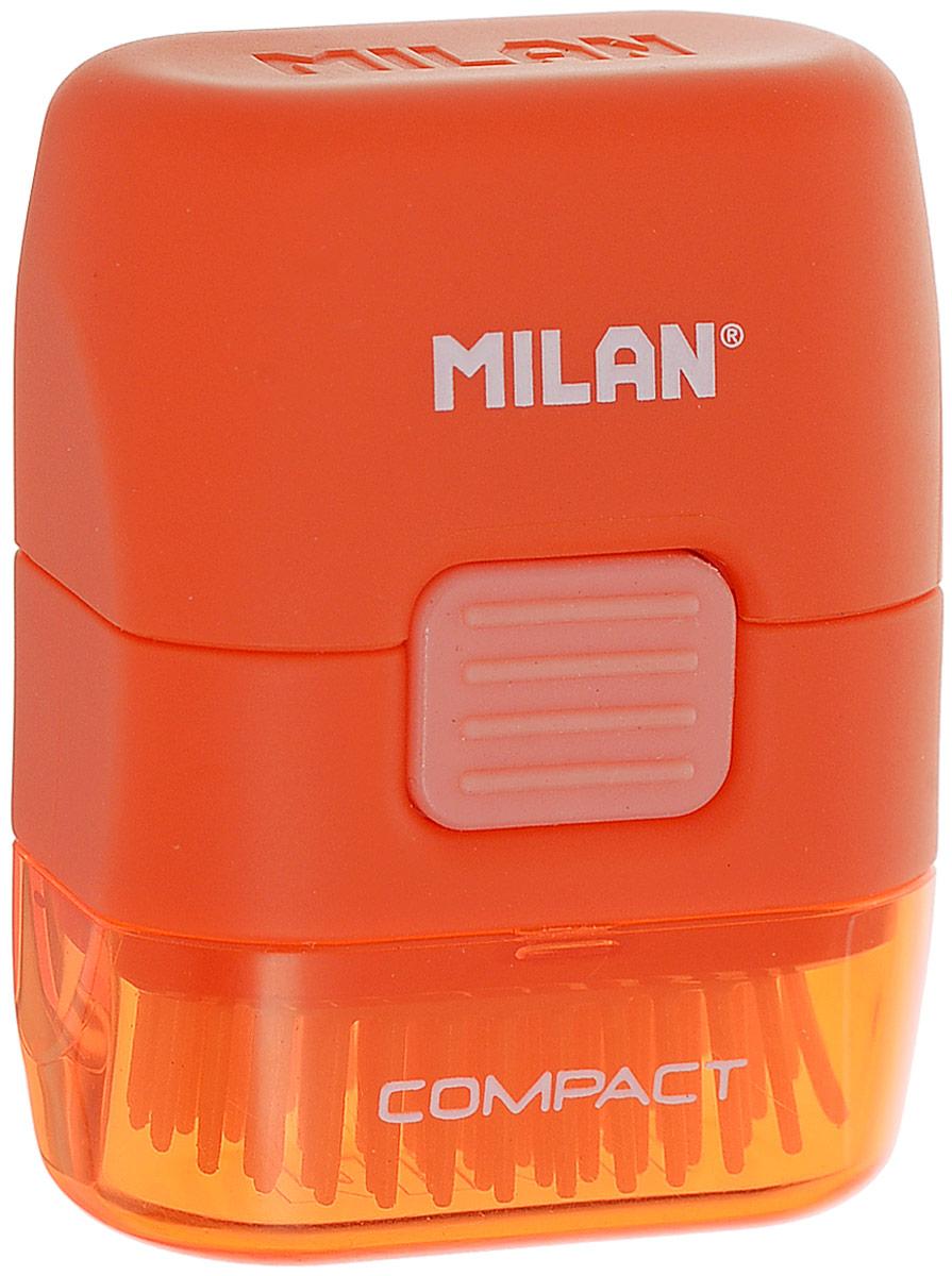Milan Ластик с щеточкой Compact прямоугольный цвет оранжевый -  Чертежные принадлежности