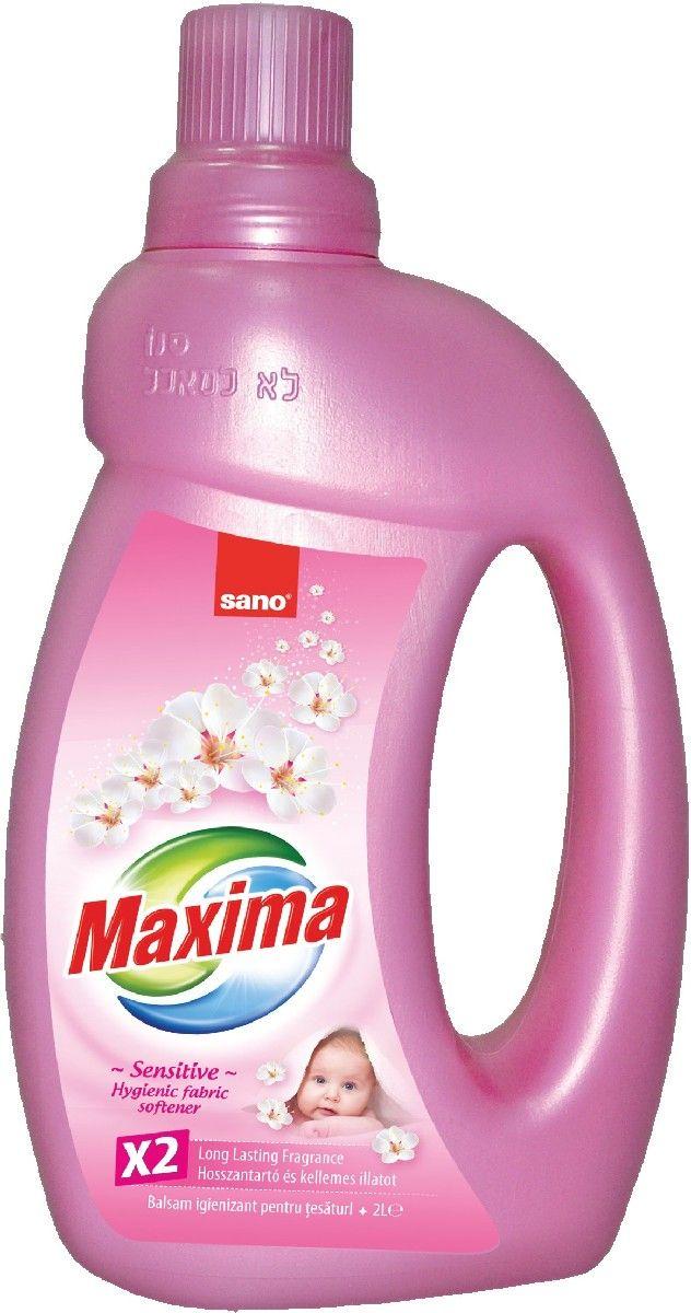 Кондиционер для белья Sano Maxima Sensitive, 2 л600052Кондиционер Sano Maxima Sensitive предназначен для стирки детской одежды из хлопчатобумажных, льняных и синтетических тканей, а также одежды людей с чувствительной кожей. Подходит для стирки даже в жесткой воде, содержит отдушки для удаления неприятных запахов. Обладает антистатическим эффектом, уничтожает микробы, имеет приятный аромат.Товар сертифицирован.