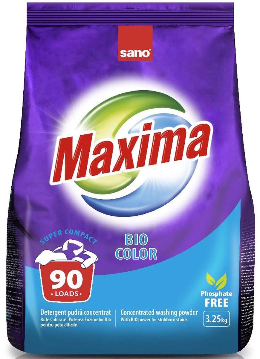 Порошок стиральный Sano Maxima Bio, концентрат, 3,25 кг600074Концентрированный стиральный порошок Sano Maxima Bio с повышенным содержанием энзимов. Подходит для стирки цветного и белого белья из хлопчатобумажных, льняных и синтетических тканей. Эффективен при низкой температуре (от 35 градусов). Товар сертифицирован.