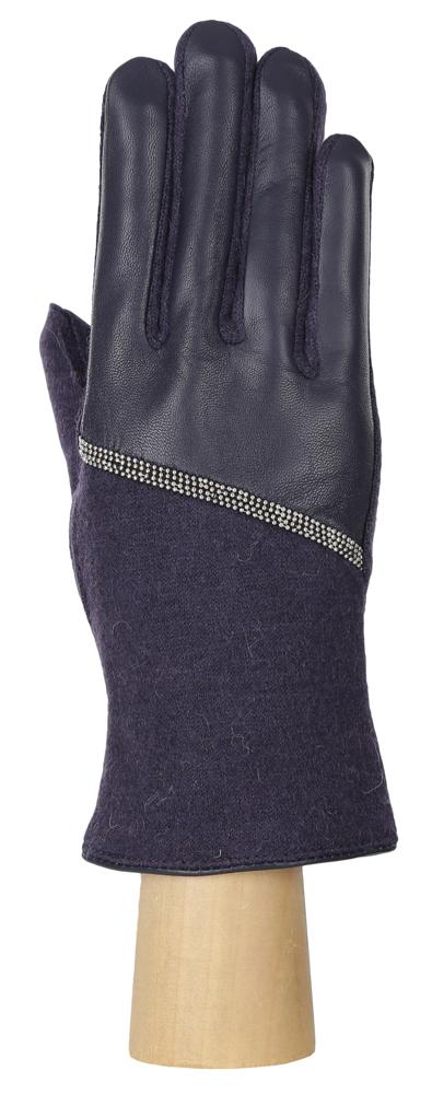 Перчатки женские Fabretti, цвет: синий. 35.1-12. Размер 8