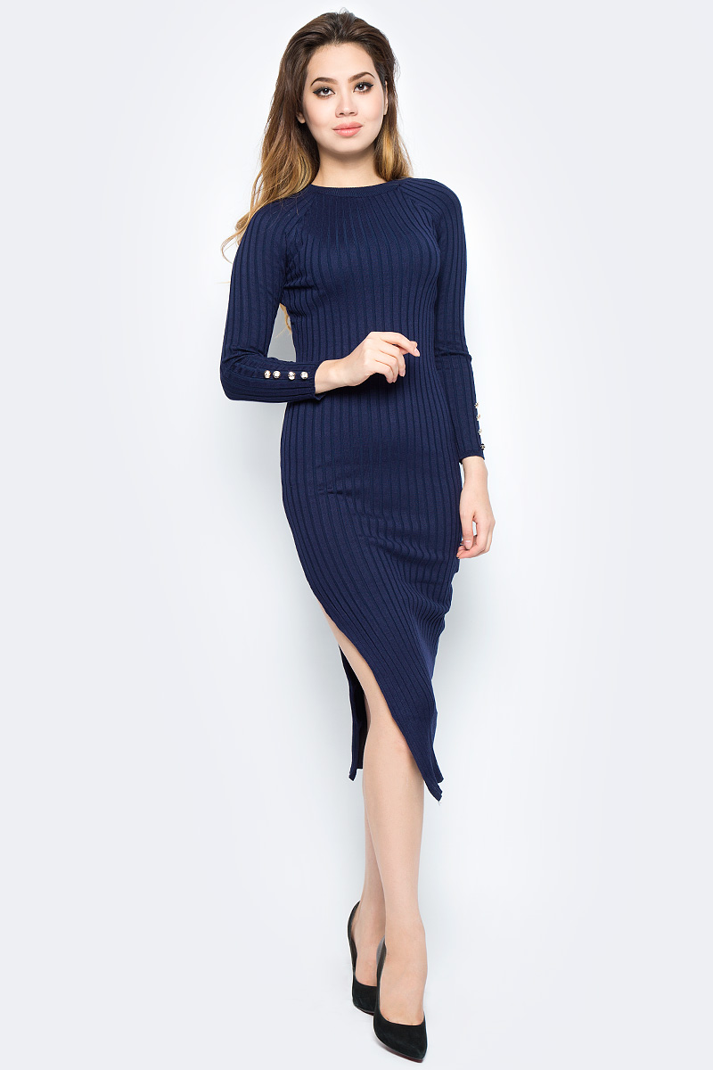 Платье Bello Belicci, цвет: темно-синий. DLA8_9. Размер S/M (42/46)DLA8_9