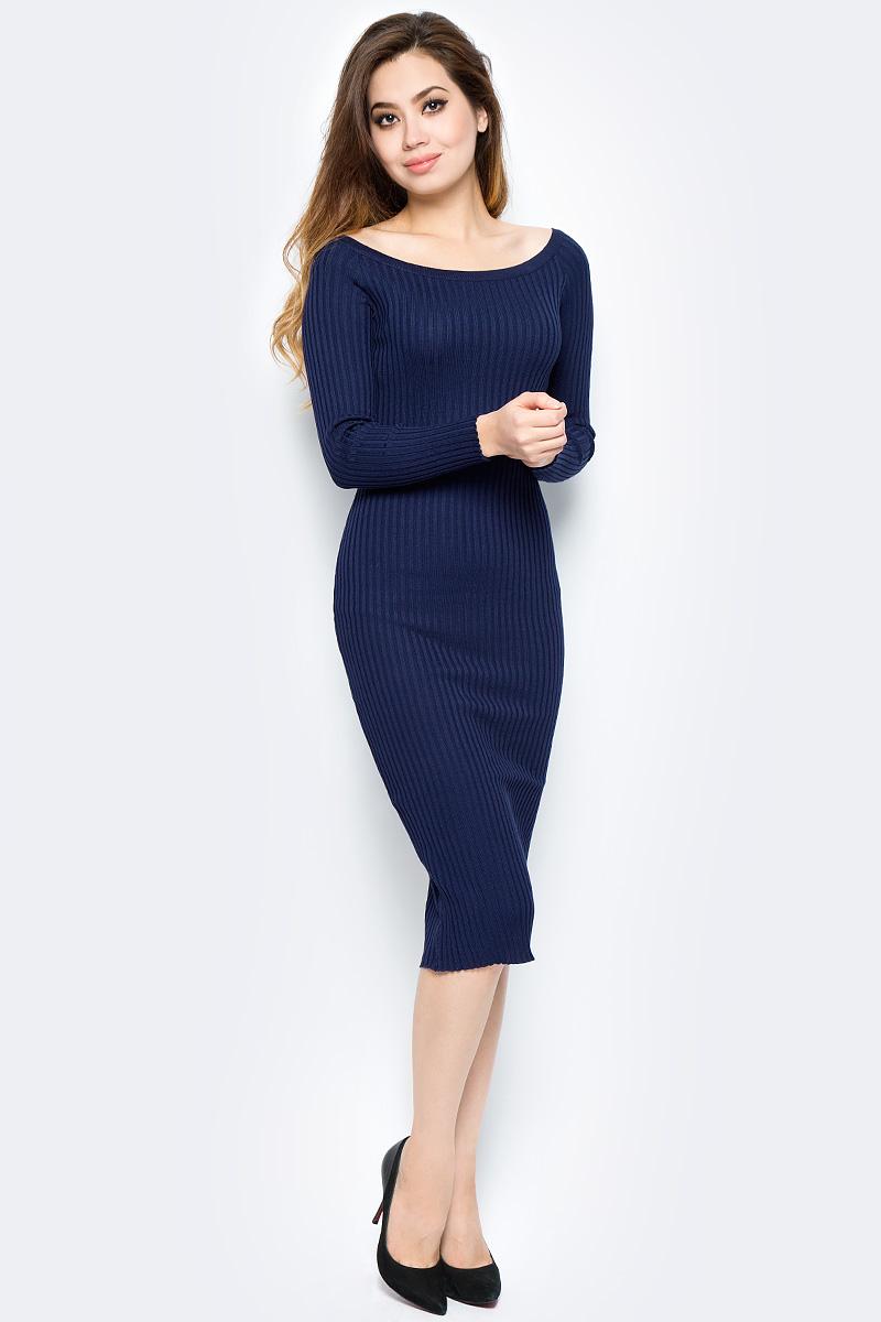 Платье Bello Belicci, цвет: темно-синий. DLA3_9. Размер S/M (42/46) рубашка женская bello belicci цвет темно красный sa14 40 размер xl 48