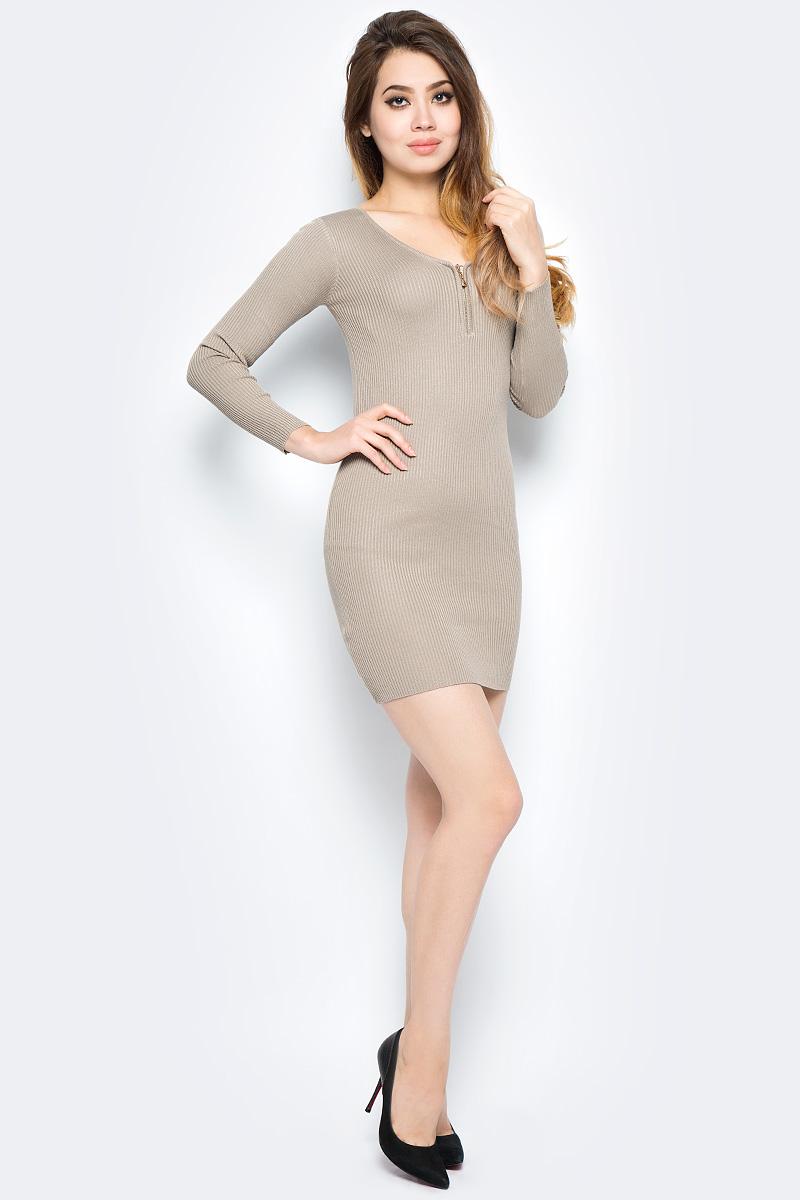 Платье Bello Belicci, цвет: бежевый. DLA2_8. Размер S/M (42/46)DLA2_8