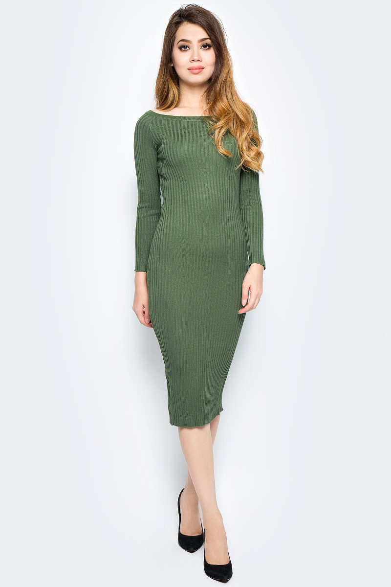 Платье Bello Belicci, цвет: хаки. DLA3_18. Размер S/M (42/46) эротическое белье женское avanua celia цвет черный 03574 размер s m 42 44