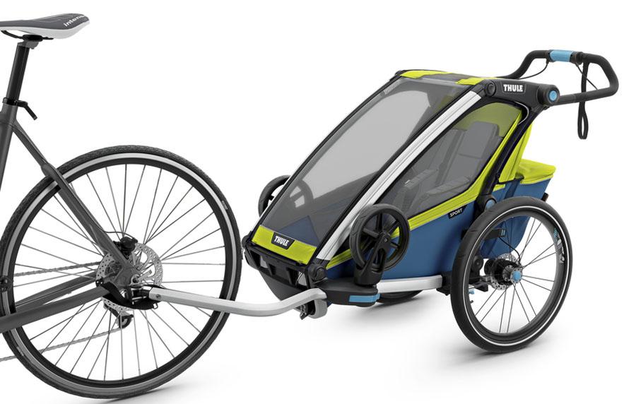 Thule Детская мультиспортивная коляска Chariot Sport 1 цвет салатовый thule багажник chariot cargo rack 1