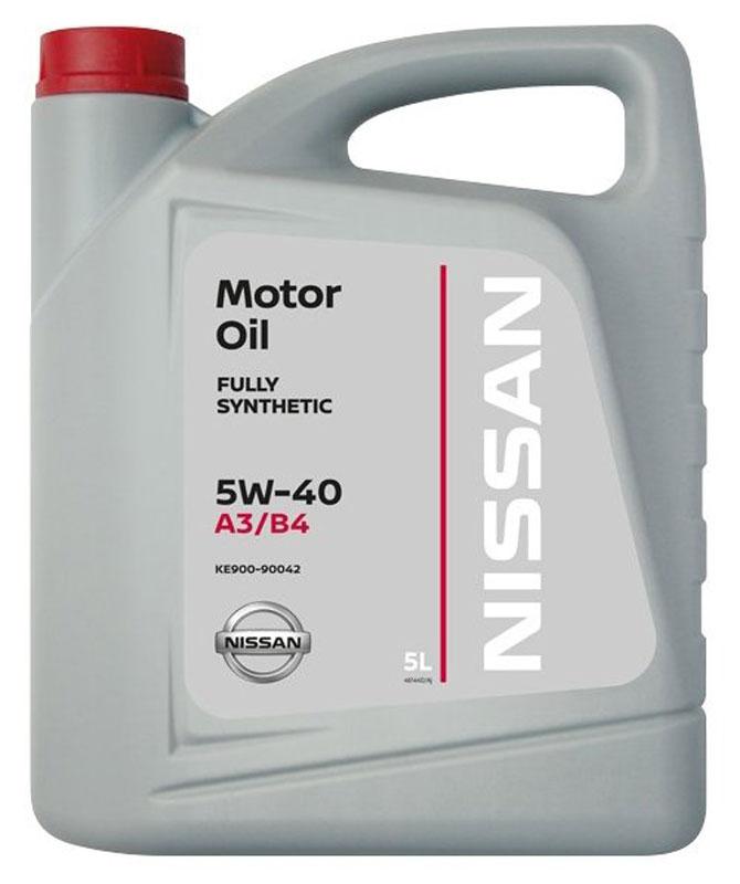Масло моторное Nissan, синтетическое, класс вязкости 5W-40, 5 лKE9009-0042Синтетическое всесезонное моторное масло Nissan 5W40 предназначено для современных бензиновых и дизельных двигателей Nissan. Масло отвечает последним требованиям, предъявляемым к моторным маслам для двигателей Nissan, обладает великолепными энергосберегающими свойствами, обеспечивает непревзойденную защиту двигателя от износа, минимальное образование отложений, высокие эксплуатационные свойства в течение всего срока службы. Для правильного выбора масла в двигатель автомобиля, руководствуйтесь книгой по эксплуатации автомобилем или обратитесь за помощью к специалистам. Классификация вязкости SAE: 5W-40.Классификация по ACEA: A3/B3.Товар сертифицирован.