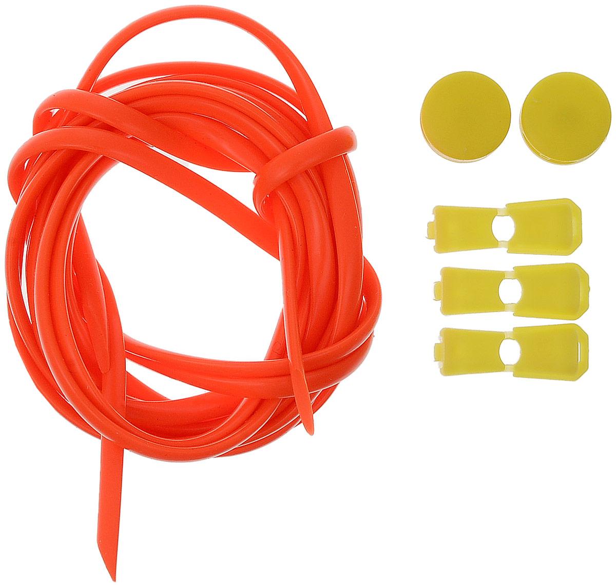 Шнурки силиконовые Hilace Group, цвет: оранжевый. Арт-2920Арт-2920Шнурок силиконовый оранжевый флуоресцентный длинномерныйДлина: 2,2 метра, 2 фиксатора, 2 зажима Шнурки компании Hilace GROUP изготовлены в России из 100% силикона, что подтверждено сертификатами и протоколами испытаний. Сегмент: спортсмены (не развязываются во время бега и занятия спортом, надежная фиксация обуви без стягивания стопы ), дети (90 % не умеют завязывать шнурки + есть люминесцентные цвета «светонакопители»), для людей с ограниченными возможностями, беременные, модники, лентяи. Силиконовые шнурки от HILACE GROUP можно носить в любую погоду и при любой температуре, в отличие от резины они не впитывают грязь и не растягиваются со временем. Срок службы более 2 лет.