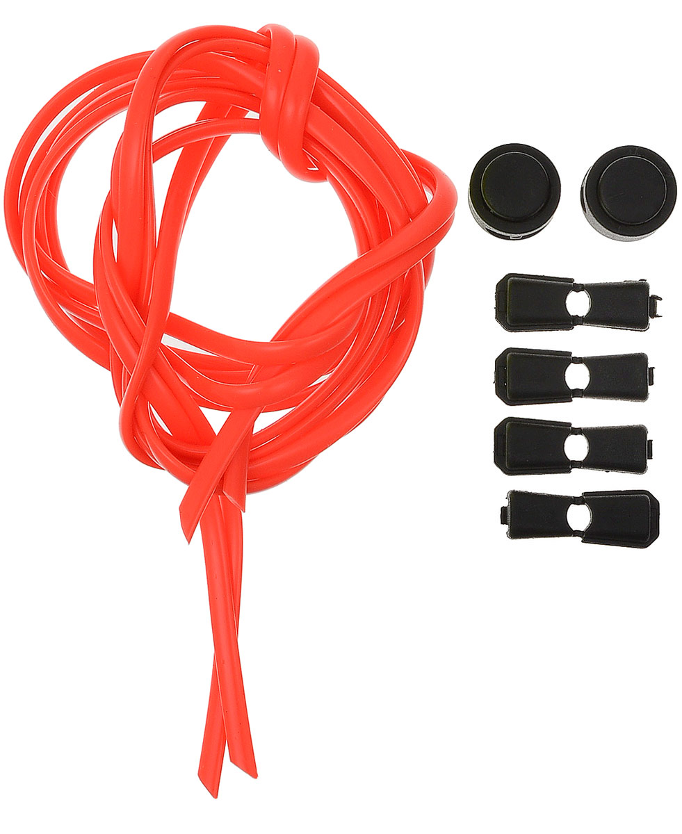 Шнурки силиконовые Hilace Group, цвет: красный. Арт-2869Арт-2869Шнурок силиконовый красный флуоресцентный длинномерный Длина: 2,2 метра, 2 фиксатора, 2 зажима Шнурки компании Hilace GROUP изготовлены в России из 100% силикона, что подтверждено сертификатами и протоколами испытаний. Сегмент: спортсмены (не развязываются во время бега и занятия спортом, надежная фиксация обуви без стягивания стопы ), дети (90 % не умеют завязывать шнурки + есть люминесцентные цвета «светонакопители»), для людей с ограниченными возможностями, беременные, модники, лентяи. Силиконовые шнурки от HILACE GROUP можно носить в любую погоду и при любой температуре, в отличие от резины они не впитывают грязь и не растягиваются со временем. Срок службы более 2 лет.