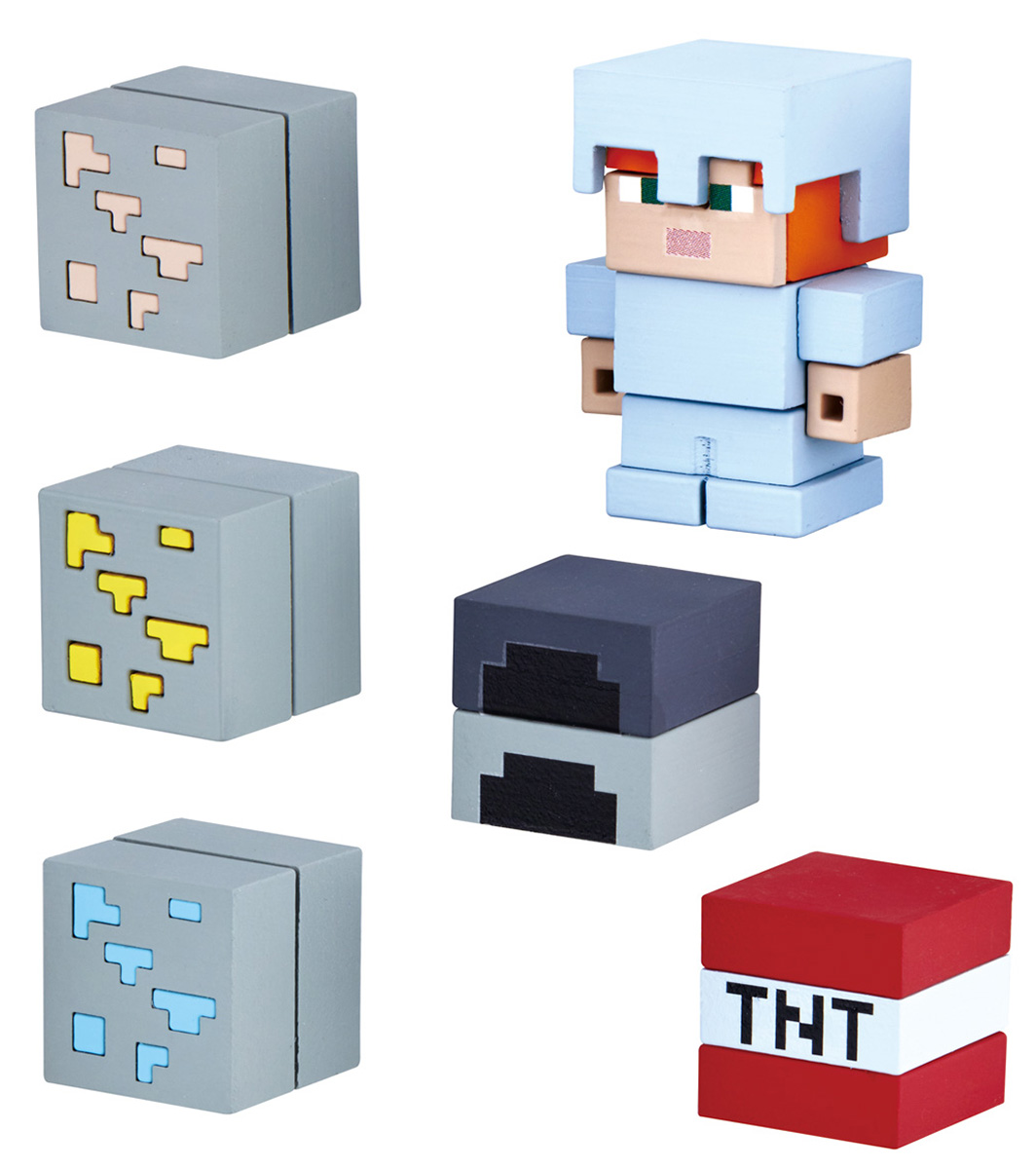 Bandai Фигурка Minecraft Mine-Cade Adv Pack Alex W 4,1 см bandai фигурка minecraft mine charact box villager 4 см