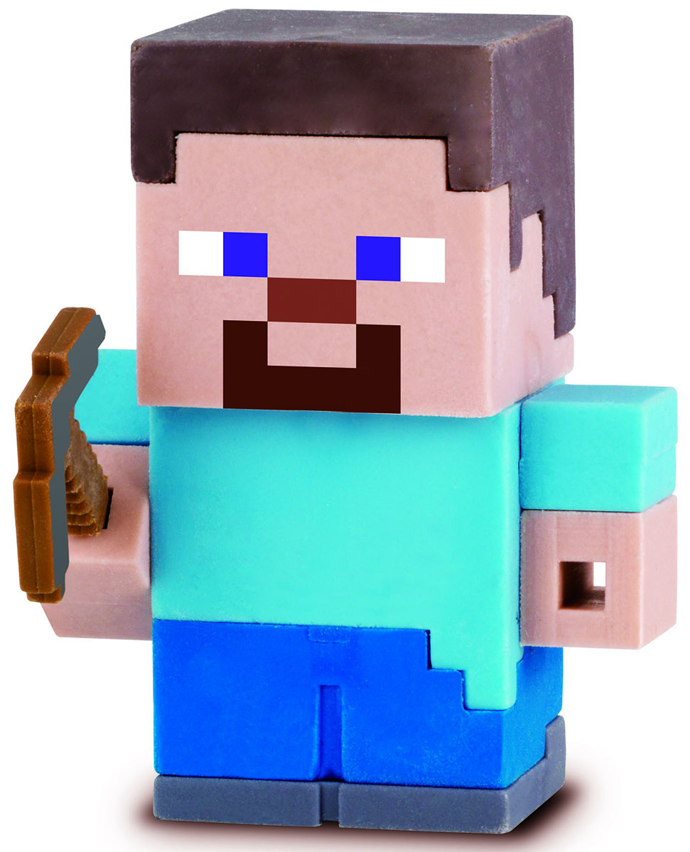 Bandai Фигурка Minecraft Mine-Charact Box Steve 4 см bandai фигурка minecraft mine charact box villager 4 см