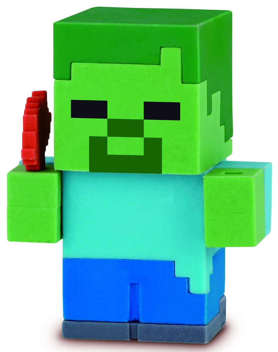 Bandai Фигурка Minecraft Mine-Charact Box Zombie 4 см