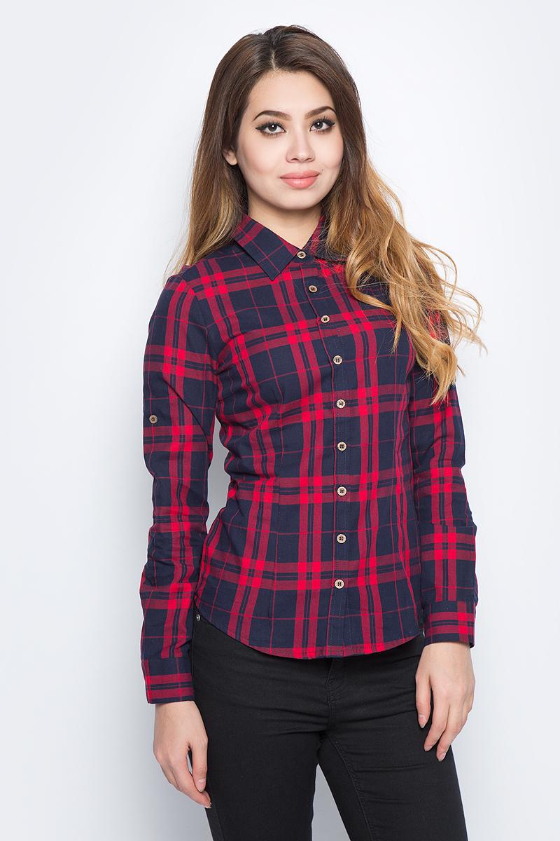 Рубашка женская Bello Belicci, цвет: темно-красный. SA1_40. Размер L (46) рубашка женская bello belicci цвет белый sa9 12 размер xxl 50