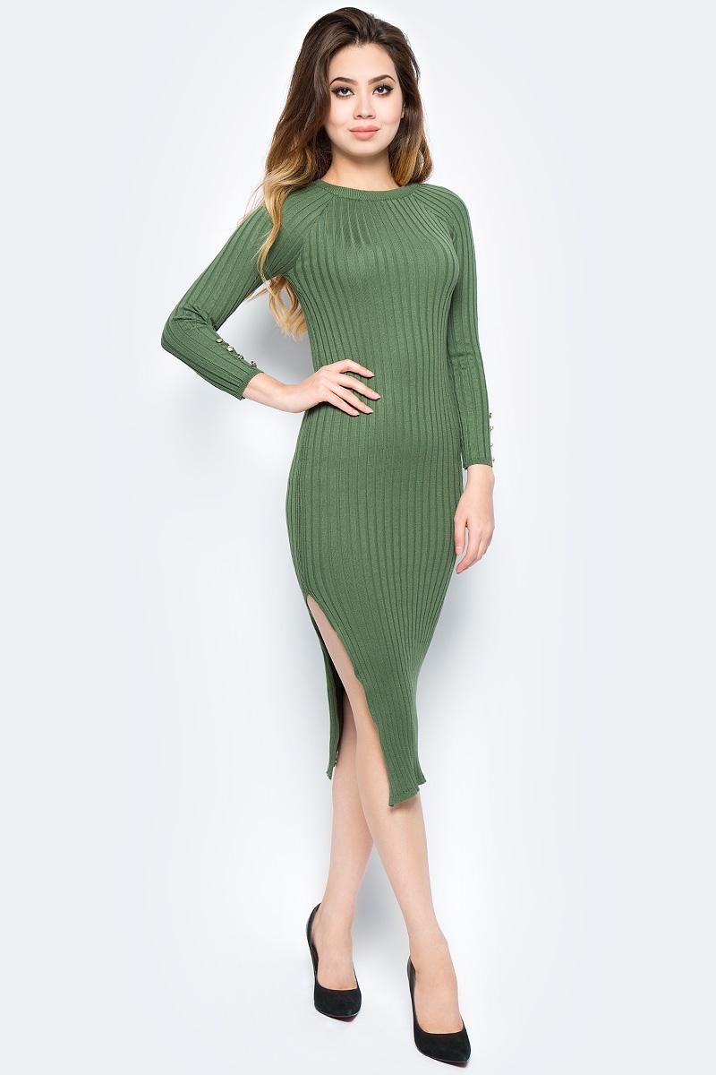 Платье Bello Belicci, цвет: хаки. DLA8_18. Размер S/M (42/46) сарафаны bello belicci сарафан