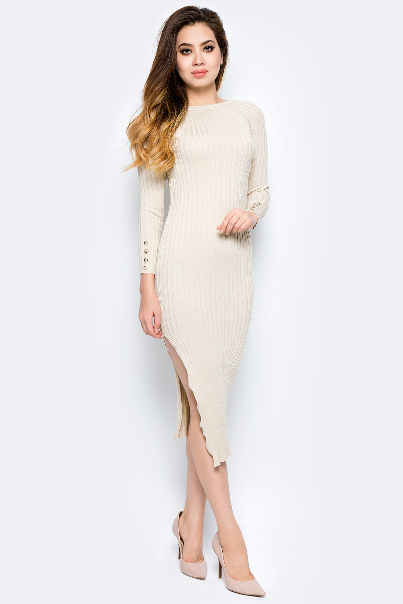 Платье Bello Belicci, цвет: бежевый. DLA8_8. Размер S/M (42/46)DLA8_8