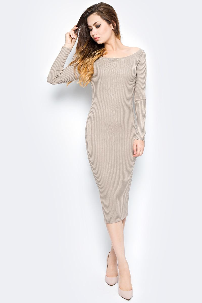 Платье Bello Belicci, цвет: бежевый. DLA3_8. Размер S/M (42/46)DLA3_8