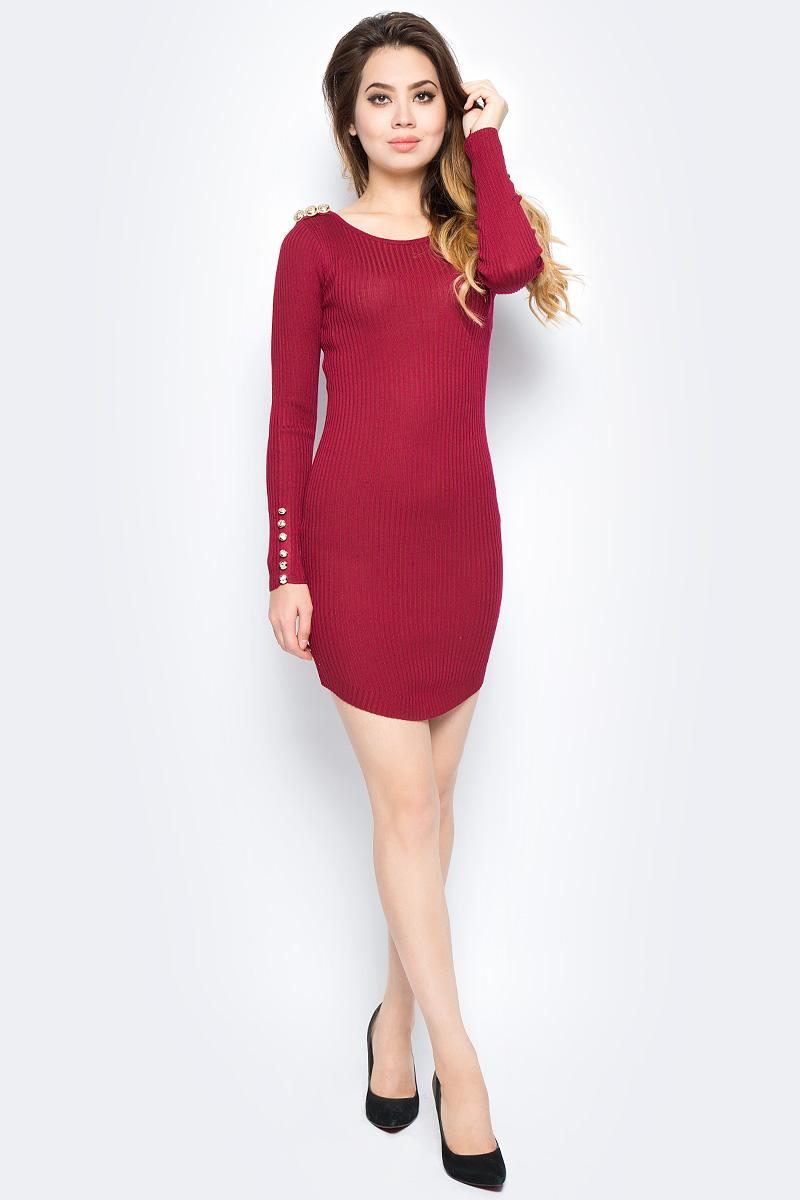 Платье Bello Belicci, цвет: бордовый. DLA19_10. Размер S/M (42/46)DLA19_10