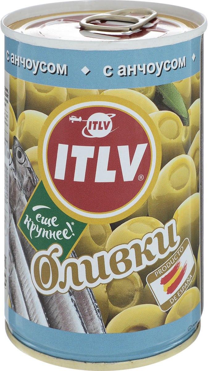 ITLV оливки с анчоусом, 314 мл833603Оливки ITLV выращивают под щедрым солнцем Испании, которое дарит им уникальный яркий вкус. Они разнообразят ваши любимые блюда.