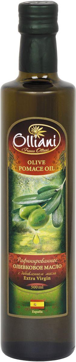 Olliani масло оливковое Pomace, 500 мл4650058460101Оливковое масло Pomace - продукт, не образующий опасных веществ при жарке: - Специальное рафинированное масло с добавлением Extra Virgin. - Обладает нейтральным вкусом и запахом, содержит полезные элементы. - Стойкое к нагреванию благодаря повышенному содержанию олеиновой и полинасыщенных жирных кислот. - При термообработке продуктов подчеркивает их природный вкус, образуя корочку с хрустом.