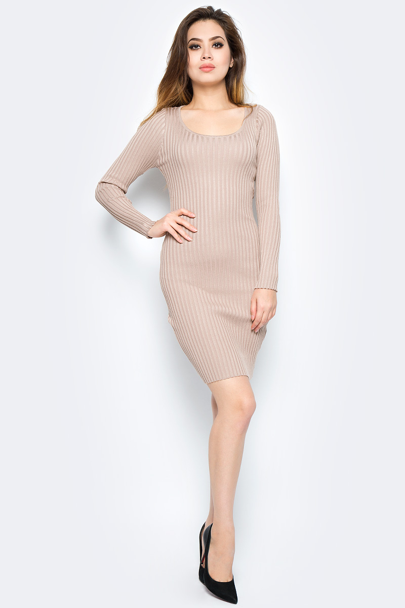 Платье Bello Belicci, цвет: бежевый. DLA18_8. Размер S/M (42/46) рубашки bello belicci рубашка