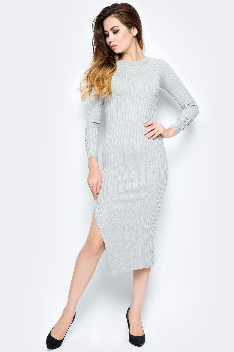 Платье Bello Belicci, цвет: серый. DLA8_2. Размер S/M (42/46)DLA8_2