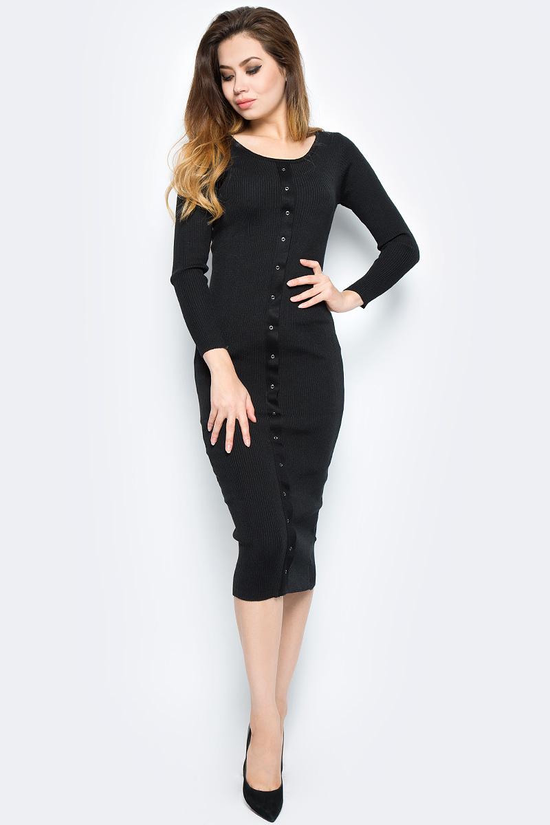 Платье Bello Belicci, цвет: черный. DLA11_7. Размер S/M (42/46)DLA11_7
