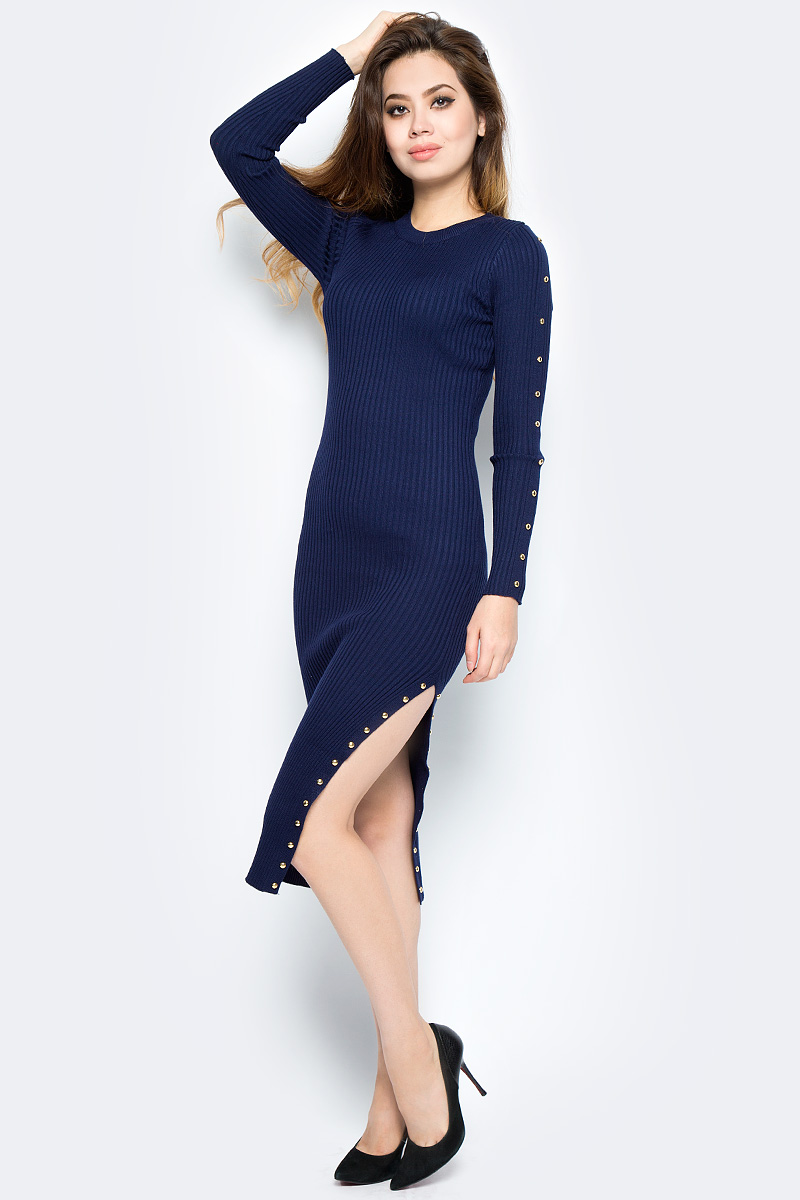 Платье Bello Belicci, цвет: темно-синий. DLA5_9. Размер S/M (42/46)DLA5_9