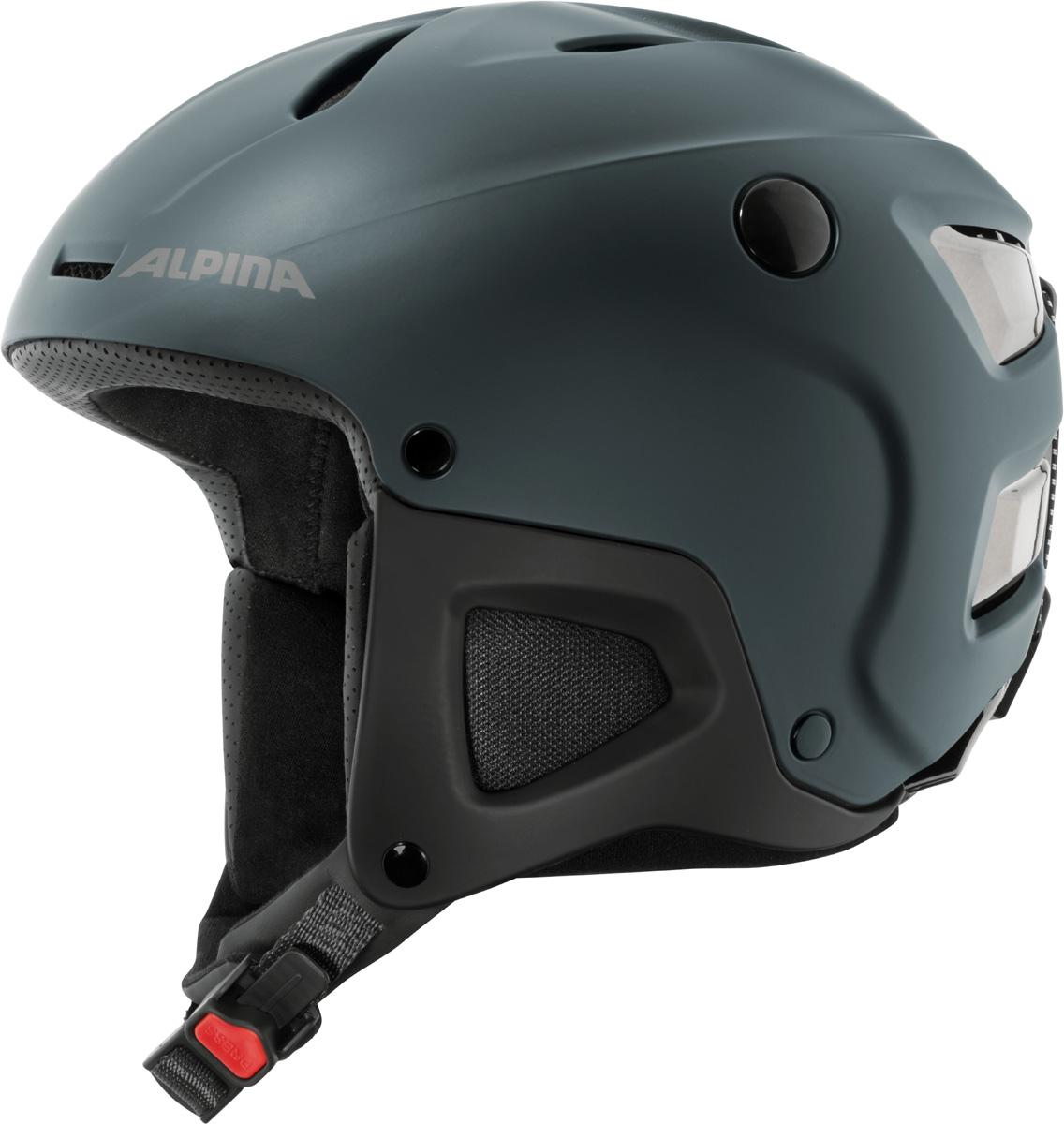 Шлем горнолыжный Alpina Attelas, цвет: темно-синий. A9089_80. Размер 53-58A9089_80Запатентованная новая революционная технология ERGO3 позволяет подстроить размер верхней части шлема по голове. Простая и интуитивно понятная регулировка позволяет добиться идеальной посадки на голову любой формы. Точная система с храповым замком позволяет простым движением руки сделать шире или уже и внутреннюю часть шлема. Система ERGO3 обеспечивает не только изменение объема, но и комфорт третьего поколения.Что взять с собой на горнолыжную прогулку: рассказывают эксперты. Статья OZON Гид