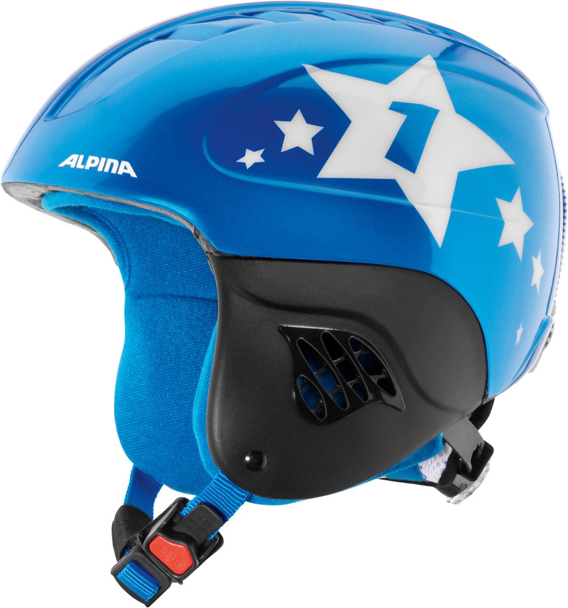 """Шлем горнолыжный детский Alpina """"Carat"""", цвет: синий. A9035_80. Размер 51-55"""