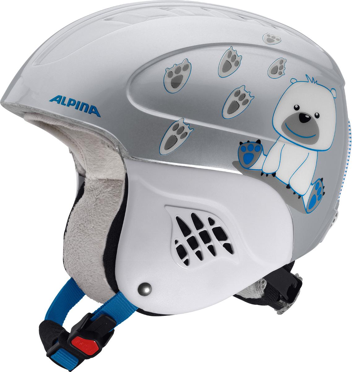 Шлем горнолыжный детский Alpina Carat, цвет: белый. A9035_86. Размер 48-52 бензопила alpina серия black a 4500 18