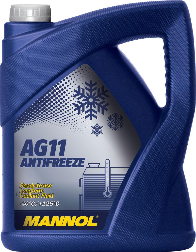 Антифриз MANNOL AG-11 Longterm, концентрат, 5 л2031MANNOL Longterm Antifreeze AG11 – концентрат, предназначенный для круглогодичного использования в любых современных алюминиевых и медных системах охлаждения, для которых рекомендуется применение антифризов на этиленгликолевой основе. Предохраняет от коррозии и накипи. Не вспенивается, нейтрален к прокладкам и шлангам. Придает достаточные противокоррозионные свойства уже при концентрации от 20 %. Представляет собой силикатную жидкость. Не содержит нитраты и фосфаты. Срок службы: 3 года.