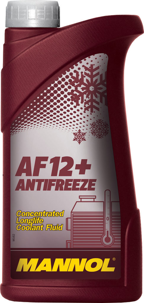 Антифриз MANNOL AF-12+ Longlife, концентрат, 1 л2032Mannol Longlife Antifreeze AF12+ - концентрат на моноэтиленгликолевой основе, предназначенный для круглогодичного использования в любых современных системах охлаждения. Предохраняет от коррозии и накипи. Не вспенивается, нейтрален к прокладкам и шлангам. Придает достаточные противокоррозионные свойства уже при концентрации от 20%. Представляет собой карбоксилатный антифриз. Не содержит нитраты и фосфаты. Срок службы: 5 лет.