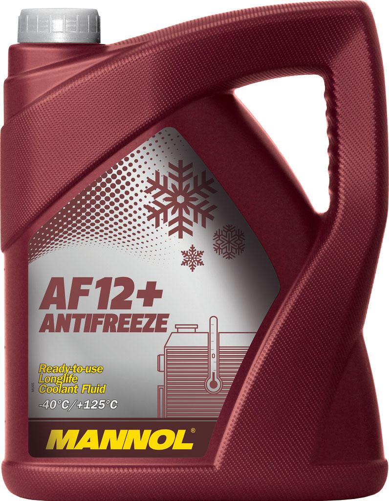 Антифриз MANNOL AF-12+ Longlife, концентрат, 5 л2033Mannol Longlife Antifreeze AF12+ - концентрат на моноэтиленгликолевой основе, предназначенный для круглогодичного использования в любых современных системах охлаждения. Предохраняет от коррозии и накипи. Не вспенивается, нейтрален к прокладкам и шлангам. Придает достаточные противокоррозионные свойства уже при концентрации от 20%. Представляет собой карбоксилатный антифриз. Не содержит нитраты и фосфаты. Срок службы: 5 лет.