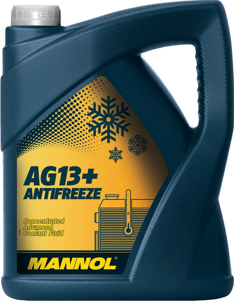 Антифриз MANNOL AG13 Hightec, концентрат, 5 л2035Mannol Hightec Antifreeze AG13 - концентрат на моноэтиленгликолевой основе, предназначенный для круглогодичного использования в любых современных системах охлаждения. Предохраняет от коррозии и накипи. Не вспенивается, нейтрален к прокладкам и шлангам. Придает достаточные противокоррозионные свойства уже при концентрации от 20%. Срок службы: 3 года.