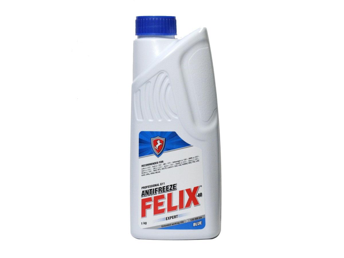 Антифриз Felix Expert, 1 л430206057Antifreeze FELIX Expert предназначен для охлаждения бензиновых и дизельных двигателей внутреннего сгорания легковых, грузовых автомобилей и спецтехники, в том числе, эксплуатируемых в тяжелых условиях, а также, в качестве теплоносителя в бытовых системах отопления