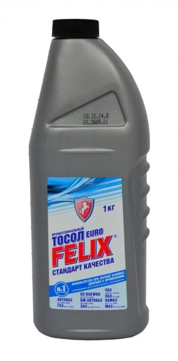Тосол Felix EURO, -35°C, 1 л430207014Профессиональный тосол FELIX Euro предназначен для использования при температуре окружающей среды до -35°С. Обладает повышенной теплоемкостью, поэтому рекомендуется для использования в летний период и в регионах с жарким климатом.