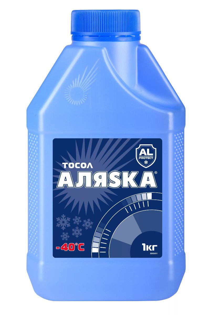 Тосол Аляска авто Аляска А-40, 1 л5069Круглогодично используемая низкозамерзающая, охлаждающая жидкость с мощным антикоррозионным эффектом, готовая к применению.