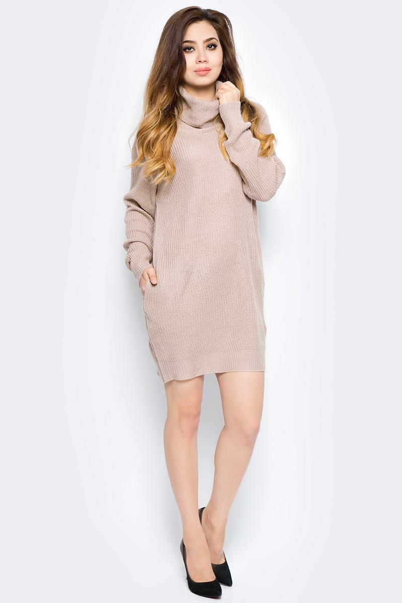 Платье Bello Belicci, цвет: бежевый. KDA1_8. Размер S/M (42/46)KDA1_8