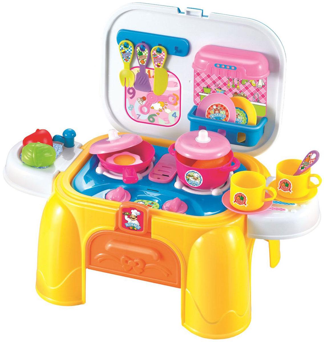 1TOY Игровой набор Профи Кухня 2 в 1 26 предметов посуда кухонная