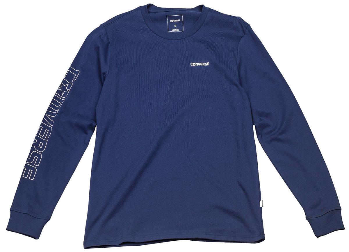 Лонгслив мужской Converse LS Graphic Wordmark Tee, цвет: синий. 10004707471. Размер S (46)10004707471Мужской лонгслив Converse изготовленный из натурального хлопка, станет отличным дополнением к вашему гардеробу. Материал изделия очень мягкий и приятный на ощупь, не сковывает движения и позволяет коже дышать, обеспечивая комфорт. Модель с круглым вырезом горловины.Современный дизайн и расцветка делают этот лонгслив стильным предметом мужской одежды. Такая модель подарит вам комфорт в течение всего дня.