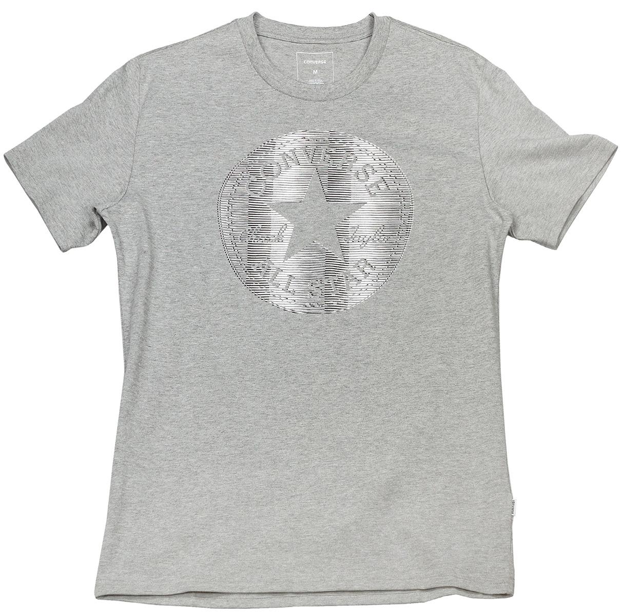 Футболка мужская Converse Lenticular Chuckpatch Tee, цвет: серый. 10004734035. Размер XXL (54)10004734035Стильная мужская футболка Converse, выполненная из высококачественного материала, прекрасно подойдет для активного отдыха и занятий спортом.Модель с короткими рукавами и круглым вырезом горловины - идеальный вариант для создания образа в спортивном стиле. Футболка оформлена термоаппликацией в виде логотипа бренда, что непременно раскроет ваш спортивный дух.Такая модель подарит вам комфорт в течение всего дня и послужит замечательным дополнением к вашему гардеробу.
